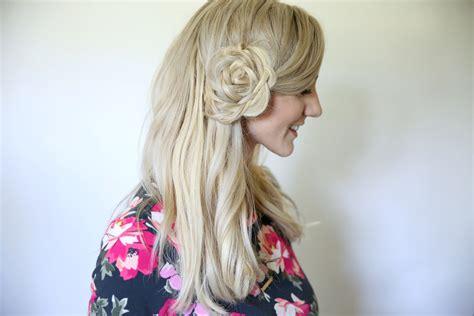 Hairstyles For Flower by Hairstyles Flower Braid Www Pixshark