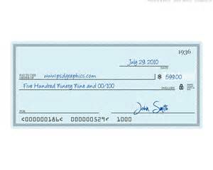 cheque template blue check psd template psdgraphics
