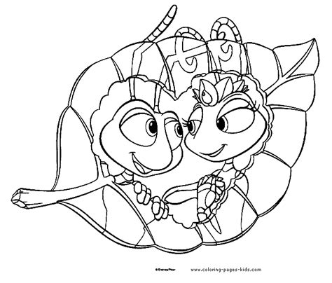 a bug s life coloring pages free printable disney