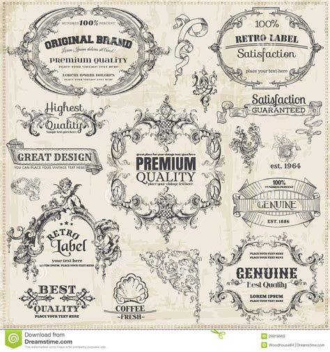 calligraphic vintage design elements vector collection free calligraphic design elements royalty free stock images