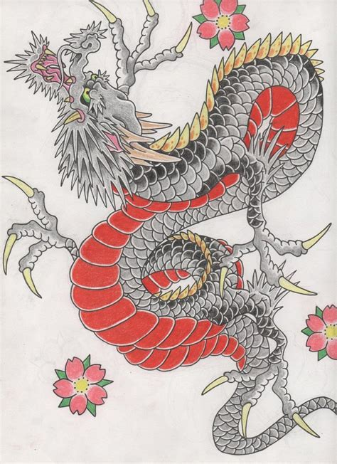 traditional japanese dragon www imgkid com the image