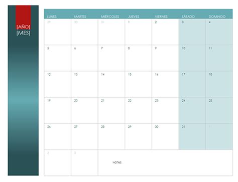 Calendario W Calendarios Office