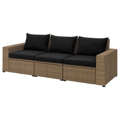 outdoor 3 seat sofa soller 214 n 3 seat sofa outdoor brown h 229 ll 246 black 223x82x80