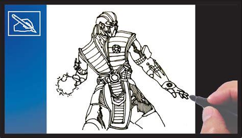 imagenes de mortal kombat para dibujar a lapiz c 243 mo dibujar a sub zero de mortal kombat x how to draw