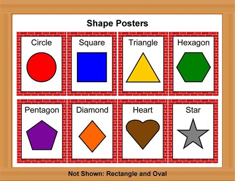 colored shapes printable color poster for preschool shape posters