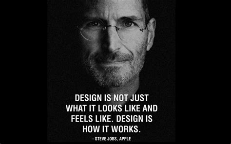 design is how it works wallpaper with quote by steve jobs design is how it