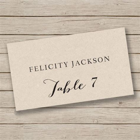 wedding place card template rustic best 25 rustic place cards ideas on place