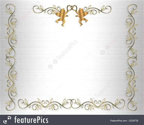Wedding Invitation Border Eps by Illustration Of Wedding Invitation Border Gold Hearts On