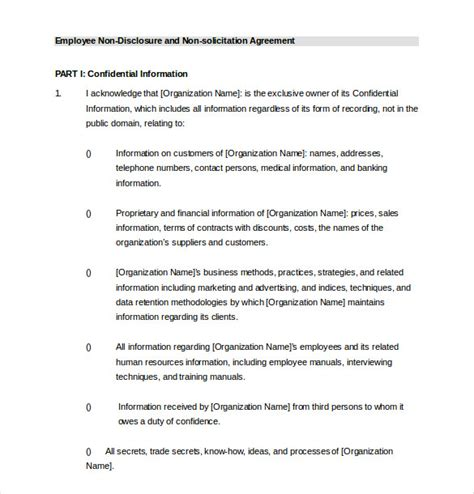 employee agreement template employee agreement templates 11 free word pdf document