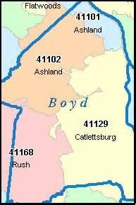 boyd county kentucky map of boyd county kentucky digital zip code map