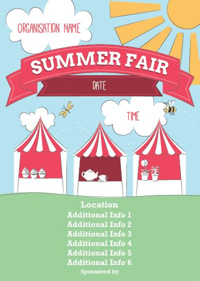 summer fair flyer template ptaprintshop co uk summer fair poster 1