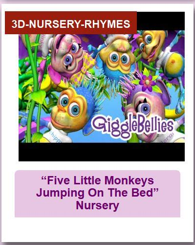 5 little monkeys jumping on the bed nursery rhyme 7 best engelse liedjes images on pinterest children