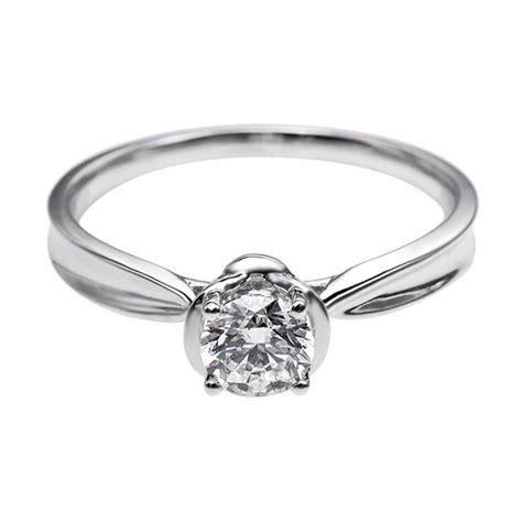 Cincin Xuping White Perhiasan Lapis Emas Berlian jual tiaria dhtxdfj021 perhiasan cincin emas putih dan berlian white gold 18k harga
