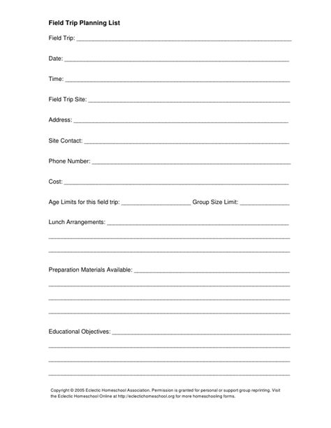 field trip planner template field trip planning sheet