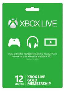 12 month xbox live gold membership xbox 360 one buy online instant
