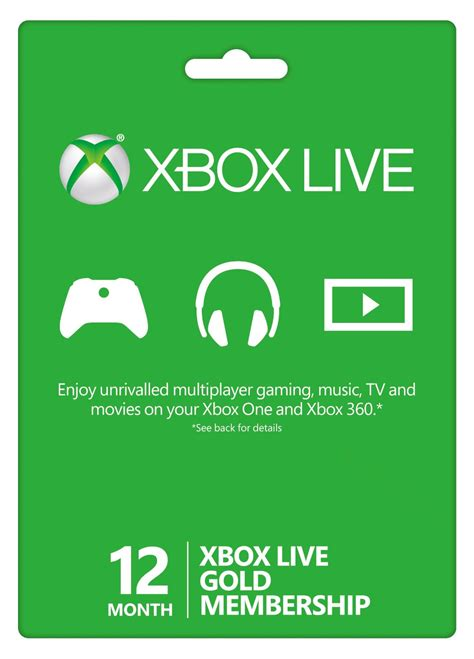 How To Buy Xbox Live Gold With Xbox Gift Card - 12 month xbox live gold membership xbox 360 one buy online instant
