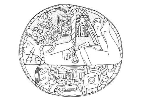 imagenes de mayas para colorear dibujo para colorear prisionero maya img 28129