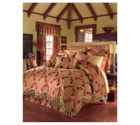 croscill queen comforter sets croscill carlisle queen comforter set qvc com