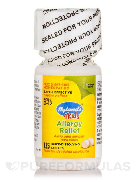 allergy remedies 4 allergy relief 125 tablets