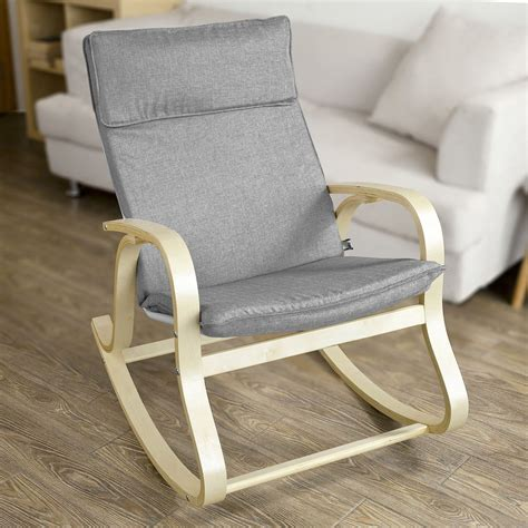 nursing armchair sobuy 174 wooden rocking chair reclining relax nursing