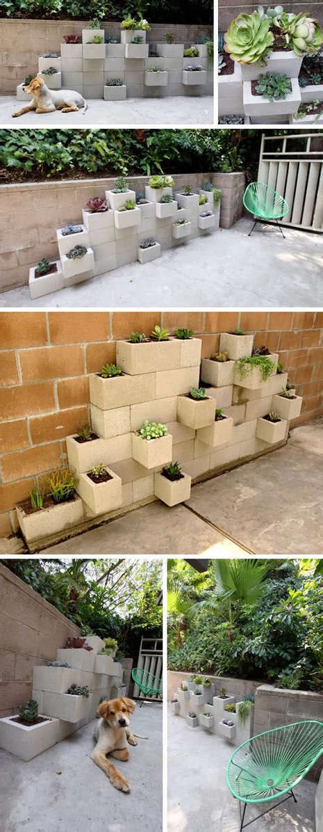 Cinder Block Wall Planter by Diy Mod Cinder Block Wall Planters 187 Curbly Diy Design
