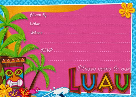 Luau Wedding Invitation Template by Hawaiian Birthday Invitations Gangcraft Net