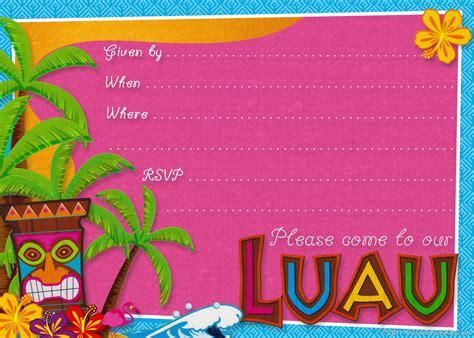 printable birthday invitations luau hawaiian birthday invitations gangcraft net