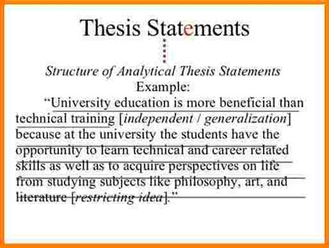 How To Write A Thesis Essay by 5 Exle Essay Thesis Statement Statement 2017