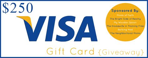 Can You Pull Money Off A Visa Gift Card - a 250 visa gift card giveaway