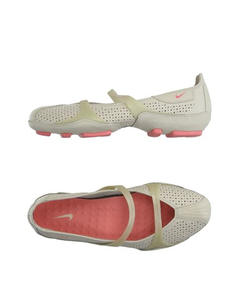 flat shoes nike nike ballet flats in white lyst