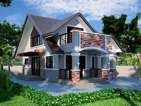 bungalow house design with attic modern bungalow house plans in philippines minimize modern house plan