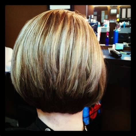 highlights and low lights on bob cut highlights and lowlights stacked bobs and highlights on