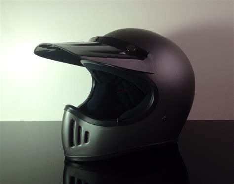 Helm Cross Cross Enduro Helm Endurohelm Casco Helmet Casque Mattgrau