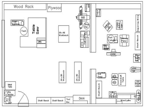 small store floor plan woodworking shop layout plans 16 x 24 small woodworking