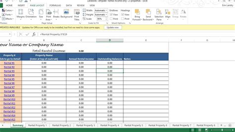 Tenant Payment Ledger Remaining Balance Rent Due Calculator 25 Properties Rental Property Record Keeping Template Excel