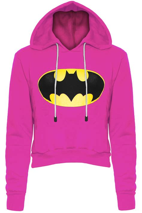 Hoodie Crop Polos Fleece Wanita Size M womens batman knitted pullover jumper sleeve