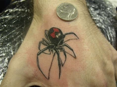 tribal black widow tattoo black widow