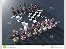 Chess Board Out Of The World Map With Chess Play Stock ... Horse Background Clipart