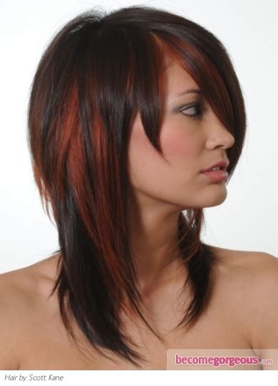 brunette red hairstyles stylish brunette hair with red highlights hair styles