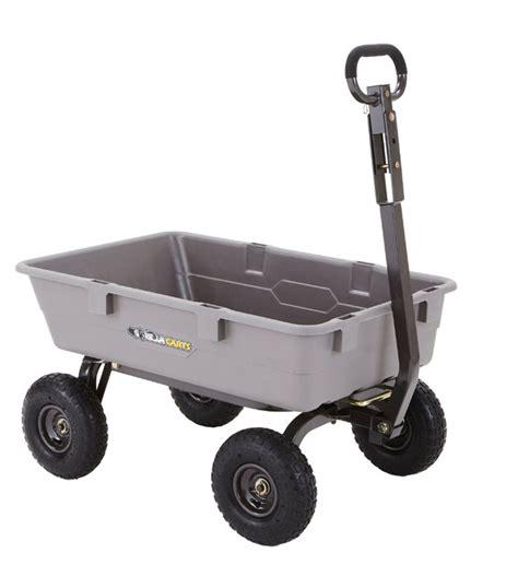 gorilla carts poly garden dump cart steel frame 10