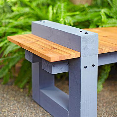 Backyard Bench Plans Garden Variety Outdoor Bench Plans