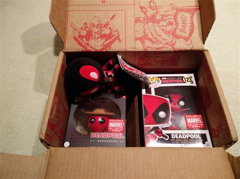Funko Pin Collector Corps Exclusive Deadpool funko marvel collector corps february deadpool unboxing