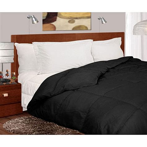 down comforter black lightweight 230 thread count black microfiber down