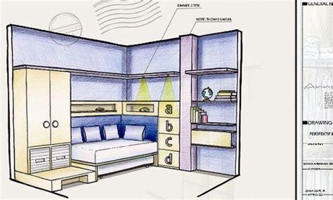 desain lemari dengan coreldraw image contoh sketsa interior kamar anak proses desain