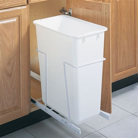 Kitchen Trash Cabinet | pull out cabinet trash can 50 quart in cabinet trash cans