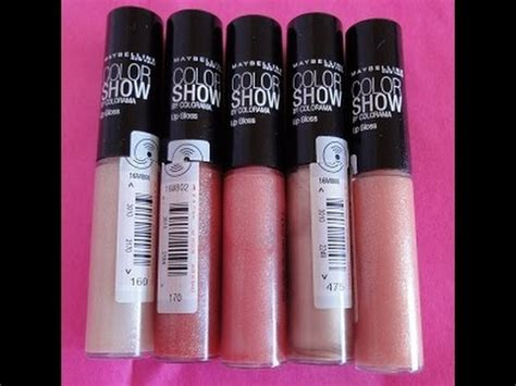 Daftar Lipgloss Maybelline nuevos maybelline color show lip gloss swatches y review