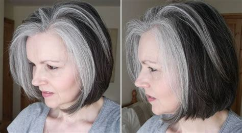 gray hair transition pictures image result for transition to grey hair with highlights