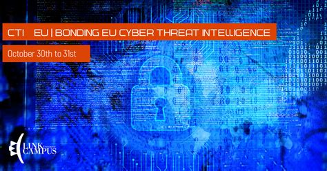 Georgetown Mba Or Applied Intelligence by Cti Eu Bonding Eu Cyber Threat Intelligence October
