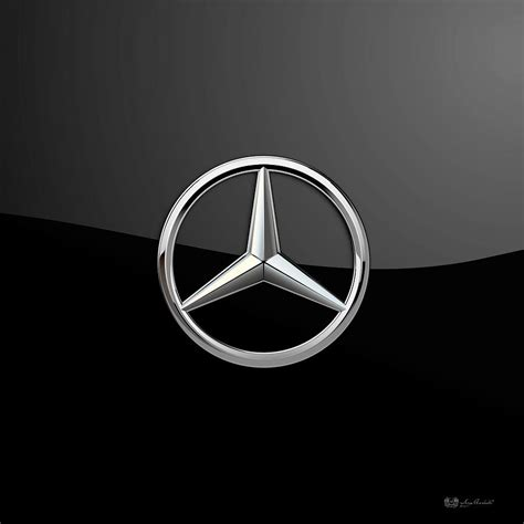logo mercedes 3d mercedes 3d badge on black by serge averbukh