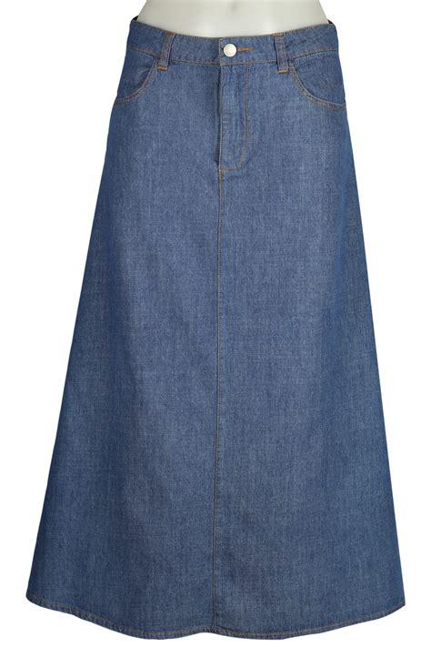 modest jean skirt